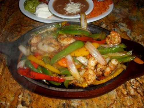 10 shrimp fajitas